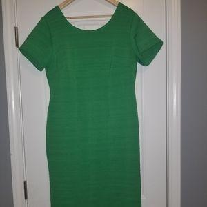 Ashley Stewart Green fitted knee length dress